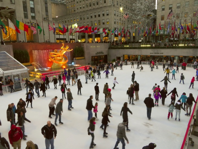 Ice skaing Rockefeller Center